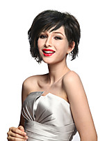 Short Curly Wig Synthetic Fiber Wig Charming Heat Resistant Full Bangs Wig For Women