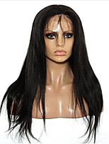 Synthetic Wigs Natural Wigs Long Straight Black  Lace Front Wig
