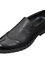 Для мужчин Мокасины и Свитер Удобная обувь Наппа Leather Кожа Весна Повседневный Черный Коричневый Цвет экрана На плоской подошве