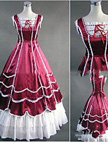 One-Piece/Dress Gothic Lolita Lolita Cosplay Lolita Dress Vintage Cap Floor-length Dress For Other