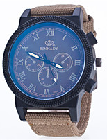 Men's Sport Watch Fashion Watch Quartz Nylon Band Blue Green Khaki