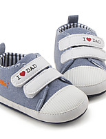 Baby Flats First Walkers Fabric Spring Fall Casual First Walkers Flat Heel Light Grey Flat