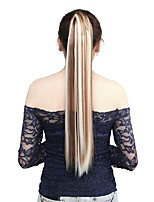 Neitsi 1Pcs 22'' 115g Striaght Wrap Around Ponytail Hair Extensions Synthetic Ombre F12/613#