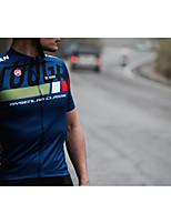 חולצת ג'רסי לרכיבה בגדי ריקוד גברים שרוולים קצרים אופניים ג'רזי רכיבה על אופניים ייבוש מהיר נושם רצועות מחזירי אור גמישות גבוהה פוליאסטר