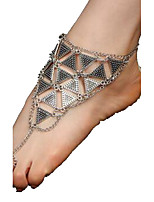 Women's Anklet/Bracelet Alloy Natural Friendship Gothic Silver Gold Women's Jewelry For Daily Casual 1pc
