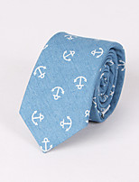 Men's Casual Fashion Personality Denim Anchor Printed Tie