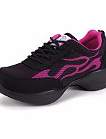 Women's Athletic Shoes Comfort PU Tulle Spring Athletic Casual Comfort Blue Ruby Flat