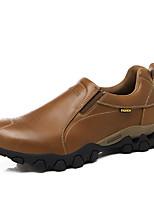 Для мужчин Мокасины и Свитер Удобная обувь Кожа Весна Для прогулок Для занятий спортом Для пешеходного туризма На плоской подошвеЧерный