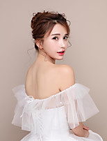 Women's Wrap Capelets Tulle Wedding Party & Evening Lace-up