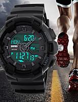 SKMEI  Sport Digital Wristwatches Chronograph Alarm Clock Outdoor Full Black Dual Time Display Watches