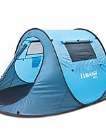 1 personne Tente Double Tente automatique Une pièce Tente de camping <1000mm Résistant à l'humidité Etanche-Camping Extérieur Intérieur-