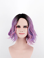 Europe and the United States new fashion wave short hair side points mixed Omber high temperature wire wig