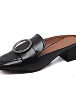 Women's Clogs & Mules Comfort PU Summer Dress Buckle Flat Heel Orange Black Flat