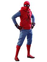 Costumes de Cosplay Araignée Cosplay de Film Rouge Gilet Pantalon Gants Tee-shirt Attelle de Poignet Halloween Féminin Masculin Enfant