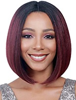 12inch Ombre Wine Red Short Bobo Cosplay Full Wigs High Temperature Synthetic Straight Hair Wig.