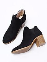 Women's Boots Comfort PU Spring Casual Comfort Khaki Brown Black 2in-2 3/4in