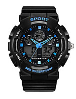 Men's Fashion Watch Digital Water Resistant / Water Proof Rubber Band Black