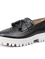 Men's Sneakers Comfort Nappa Leather Cowhide Spring Casual Black Brown Flat