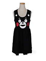 Inspired by Kumamon Cosplay Anime Cosplay Costumes Dresses Solid Color Cartoon Sleeveless Dresses For Female