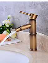 Contemporary CentersetCeramic Valve Single Handle One Hole for  Antique Copper , Bathroom Sink Faucet