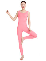Unisex Lycra Spandex Unitard Scoop Neck Tank Sleeveless Footless Elastane Bodysuit Costume
