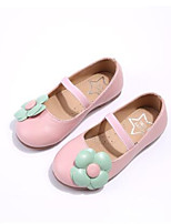 Girls' Flats Comfort Leatherette Spring Fall Outdoor Casual Walking Magic Tape Low Heel Light Blue Blushing Pink Black Flat