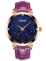 Women's Fashion Watch Japanese Quartz Digital Water Resistant / Water Proof Leather Band Black White Red Purple Navy