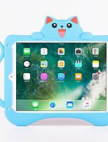 Para maçã ipad pro 9.7 '' ipad air 2 à prova de choque com suporte padrão capa traseira gato 3d cartoon soft silicone