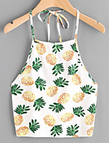 Women's Beach Simple Summer Tank Top,Print Strap Sleeveless Others Thin