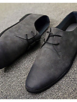 Men's Sneakers Comfort Leatherette Spring Casual Black Gray Brown Flat