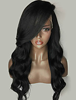 New Style Lace Front Human Hair Wigs Loose Wave for Woman 150% Density Brazilian Virgin Hair Glueless Lace Wig with Side Bang