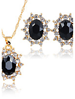 Women's Jewelry Set Necklace Bridal Jewelry Sets AAA Cubic Zirconia Euramerican Fashion Classic Zinc Alloy Rhinestones Taper Shape 147