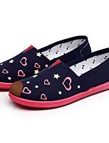 Damen Loafers & Slip-Ons Komfort Stoff Frühling Normal Komfort Fuchsia Rot Blau Flach