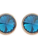 Mulheres Para Meninas Brincos Curtos Imitação de DiamanteBásico Circular Original Gemas Geométrico Circulo Amizade Adorável Personalizado