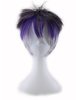 CosRooms Wigs Diabolik Lovers Reverse Roll / Lotus Purple Gradient Thickening 4inch