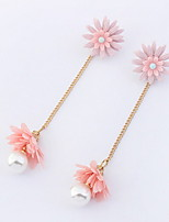 Drop Earrings Women's Girls' Earrings Set Euramerican Delicate Flower Pearl Friendship Party Daily  Movie Jewelry