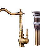 Contemporary CentersetCeramic ValveAntique Copper , Kitchen faucet