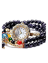 Жен. Модные часы Кварцевый Plastic Группа Белый Синий Красный Коричневый Фиолетовый