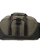 Unisex Travel Bag Canvas All Seasons Sports Outdoor Weekend Bag Zipper Army Green khaki Black
