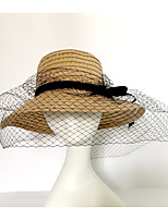 Women's Mesh Straw Sun Hat,Party Casual Solid Spring Summer Fall