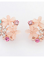 Euramerican  Delicate  Rhinestone  Sweet  Multicolor  Flowers  Women's  Daily  Ear Clips  Gift Jewelry