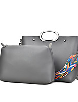 Women Bag Sets PU All Seasons Wedding Event/Party Casual Formal Office & Career Horizontal Zipper Gray Red Black Blue
