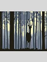 מצויר ביד בעלי חיים אנכי פנורמי,מודרני קלאסי פנל אחד בד ציור שמן צבוע-Hang For קישוט הבית