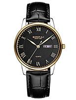 Homens Relógio Esportivo Relógio de Moda Bracele Relógio Japanês Quartzo Calendário Impermeável Couro Banda Luxuoso Preta Marrom