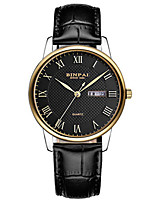 Men's Sport Watch Fashion Watch Bracelet Watch Japanese Quartz Calendar Water Resistant / Water Proof Leather Band Luxury Black Brown