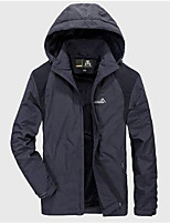 Men's Regular Down Coat,Active Sport Daily Casual Solid-Polyester Polyester Long Sleeve