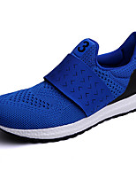 Hiking Shoes Men's Athletic Shoes Comfort Couple Shoes Tulle Summer Fall Outdoor Athletic Casual  Flat Heel Blue Red Black Flat