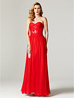 2017 TS Couture Formal Evening Dress - Open Back Elegant A-line Sweetheart Knee-length Chiffon with Lace Pleats Criss Cross Ruching