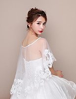Women's Wrap Capelets Lace Tulle Wedding Party/ Evening Party & Evening Birthday Party