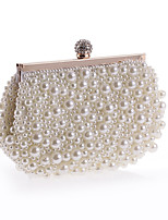 Women Evening Bag Polyester All Seasons Formal Casual Event/Party Wedding Minaudiere Imitation Pearl Crystal/  Handbag Clutch More Colors